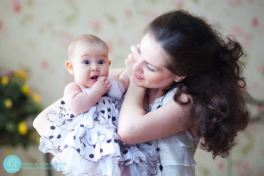 Фотосессия в студии для трехмесячного малыша
