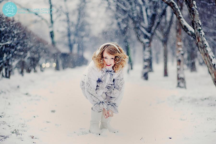 зимняя фотосессия на улице