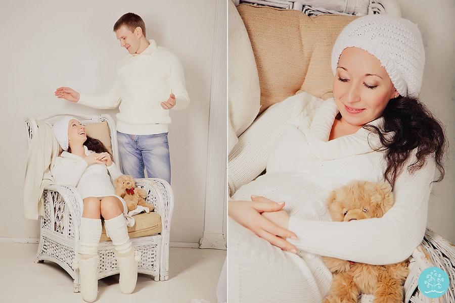 новогодняя беременная фотосессия